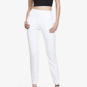 EXPRESS HIGH WAISTED SIDE ZIP WHITE PANTS 0